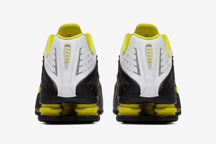 Nike Shox R4 Dynamic Yellow Heels