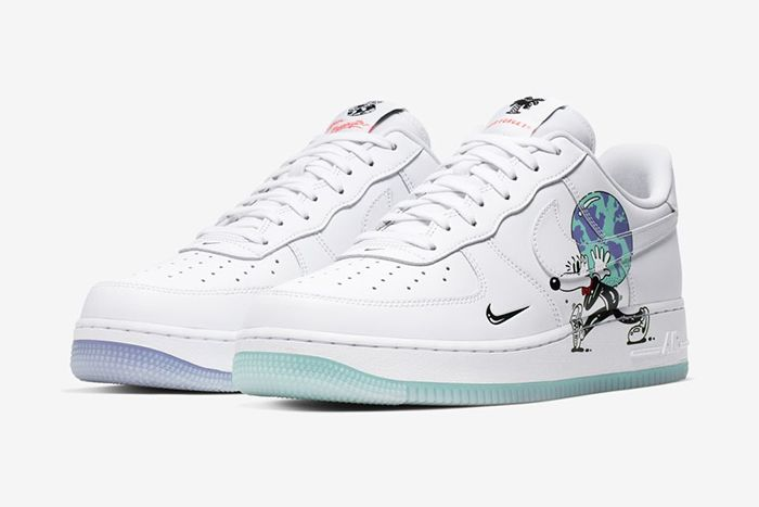 Steven Harrington Nike Air Force 1 Earth Day Release Date Pair