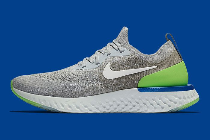Nike Epic React Grey Scream Green 1