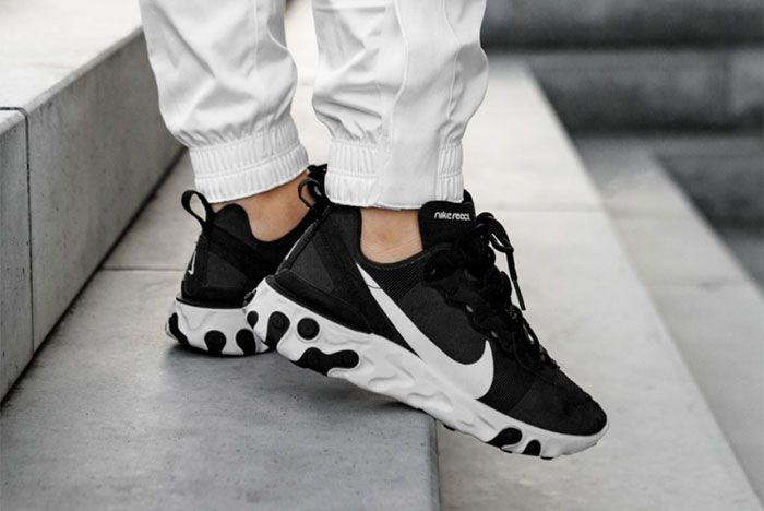 Nike React Element 55 Black White Right