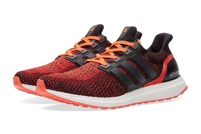 adidas Ultra BOOST M (Core Black/Solar Red) - Sneaker Freaker