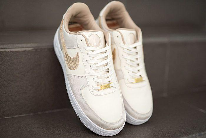 Deubré Bespokeind Nike Air Force 1 French Vanilla French Montana3