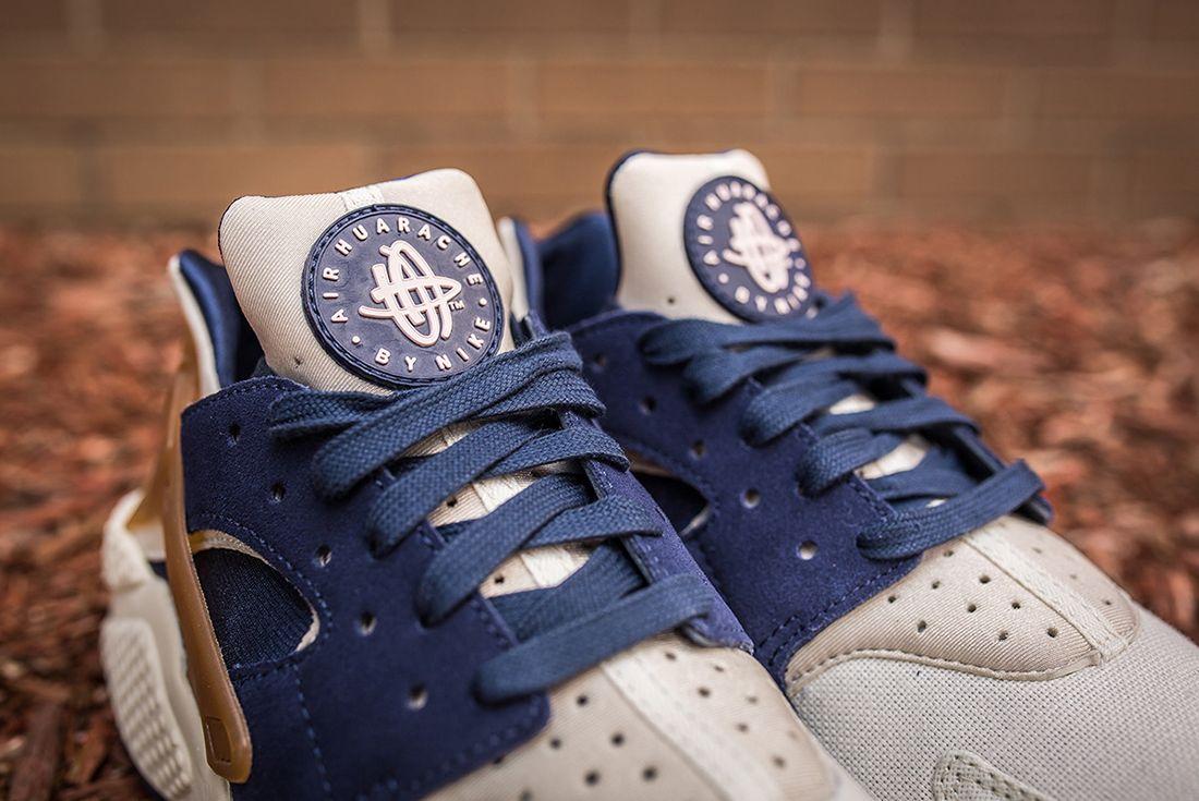 Nike Air Huarache White Sail Navy13