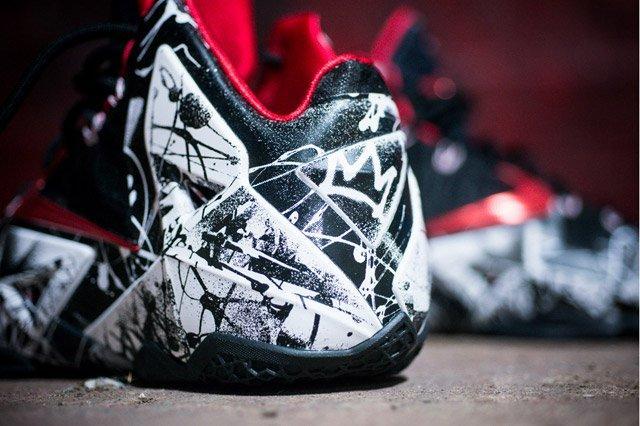 Nike Lebron 11 Grafitti Heel Detail