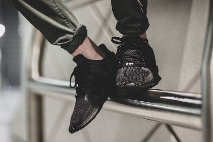 Adidas Eqt Adv Support Triple Black 1