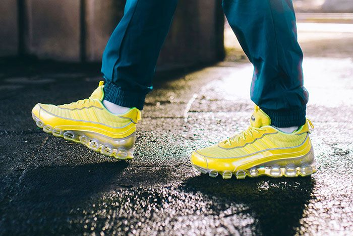 Adidas Microbounce T1 Fw9598 Yellow On Foot
