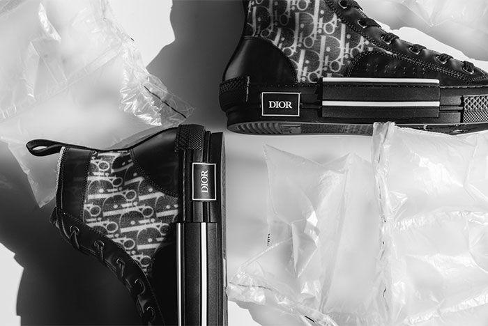 Dior B23 All Black Heel Shot 6