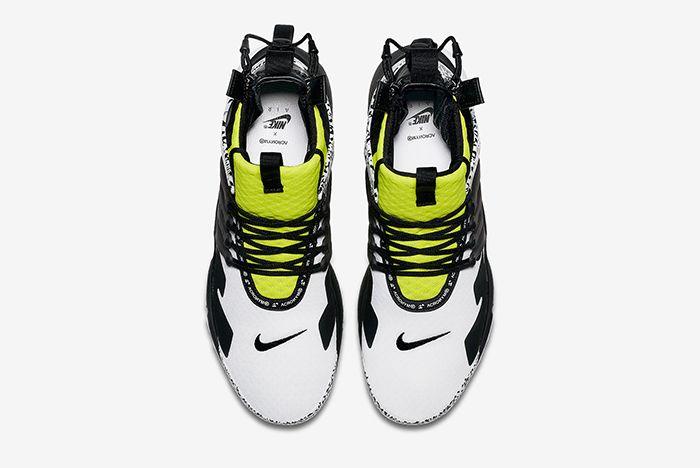 Acronym Nike Air Presto Mid Dynamic Yellow Cool Grey 4