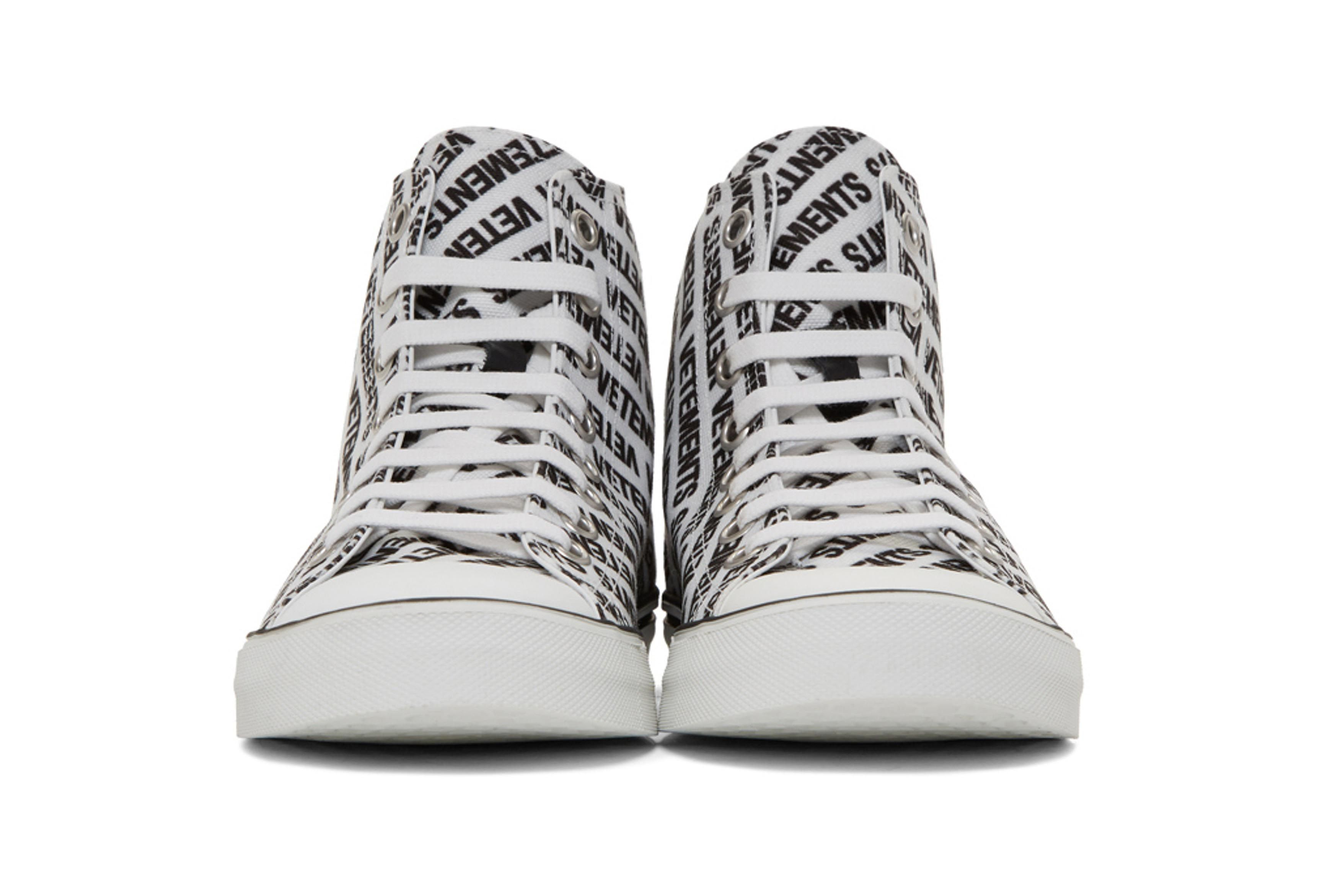 Vetements Logo High Top Sneakers Black White 2 Sneaker Freaker