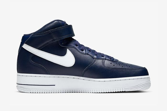 Nike Air Force 1 Mid Navy White Medial