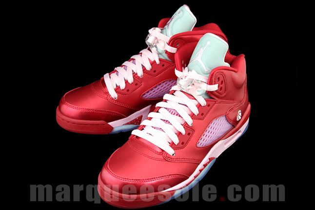 Air Jordan 5 Gs Valentines Day Pink Laces 1
