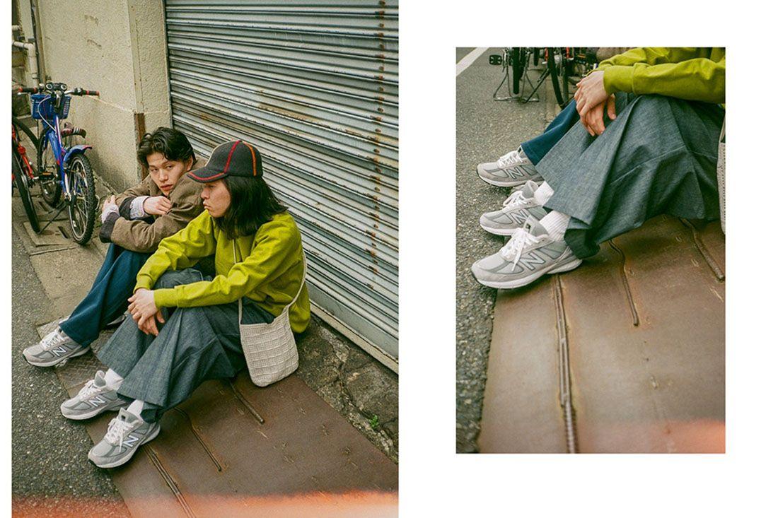 New Balance 990V5 Biancissimo Afew Japan Editorial 5 Sitting