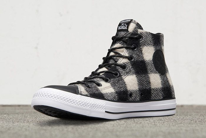 Woolrich Converse Chuck Taylor All Star High Black White 2