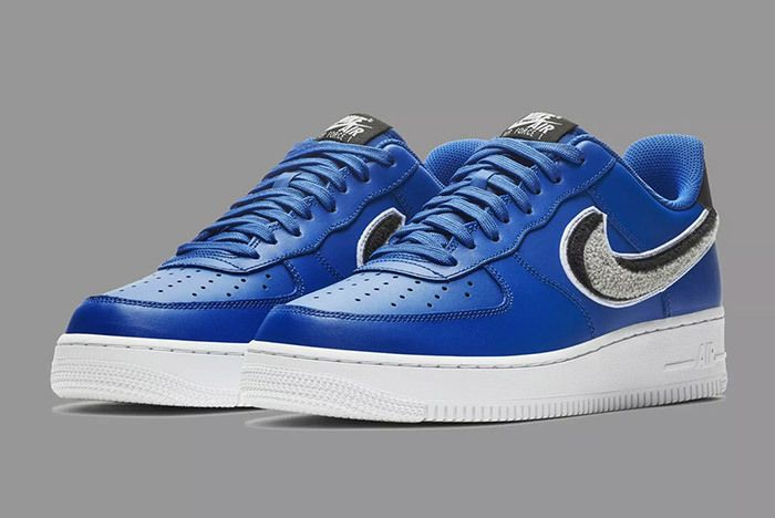 Nike Air Force 1 Low 3D Chenille Swoosh Blue 1