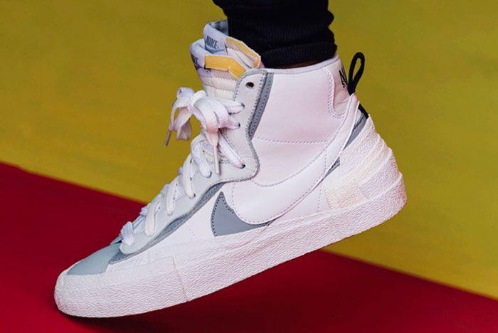 Nike Sacai Blazer Mid Wolf Grey Left