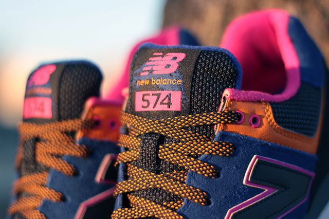 New Balance 574 90S Outdoor Pack Blue Orange Pink 4