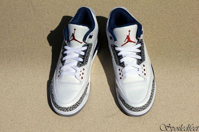 Air Jordan 3 White Blue 1
