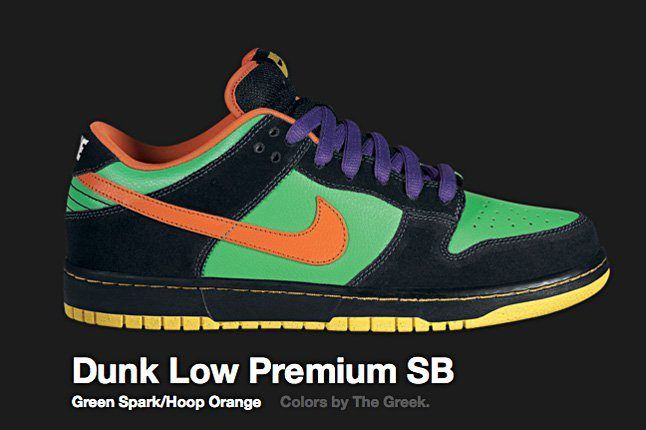 Nike Green Spark Dunk Low Premium Sb 2009 1
