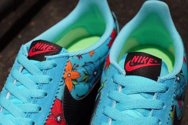 Nike Classic Cortez Nylon Qs Aloha Pack Blue Tongue 1