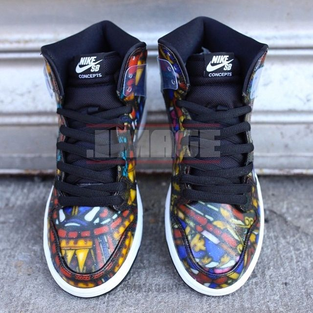 Concepts Nike Dunk High Sb Stained Glass 011