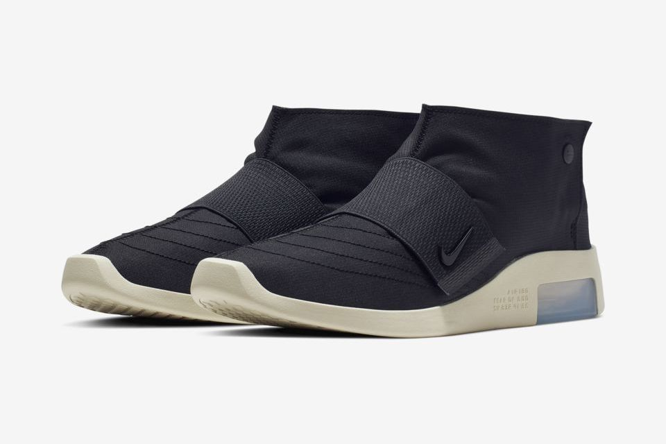 Nike Air Fear Of God Moc Black Fossil At8086 002 Release Date Pair