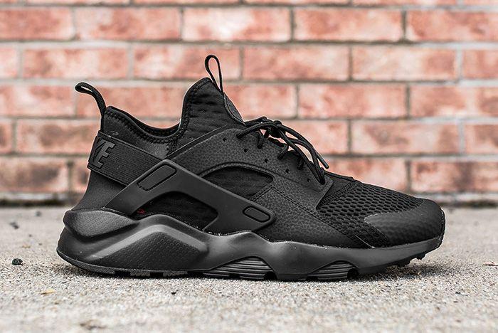 Nike Air Huarache Ultra Br Triple Black 3 4