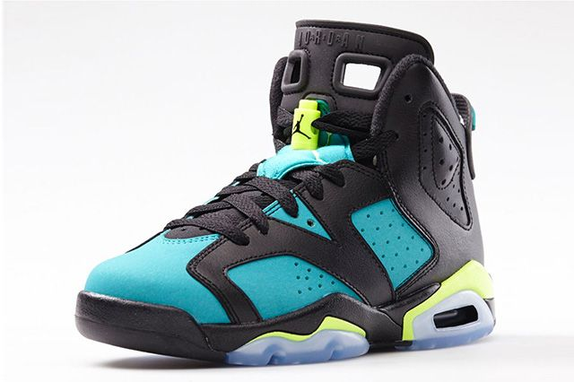 Air Jordan 6 Gs Turbo Green 1