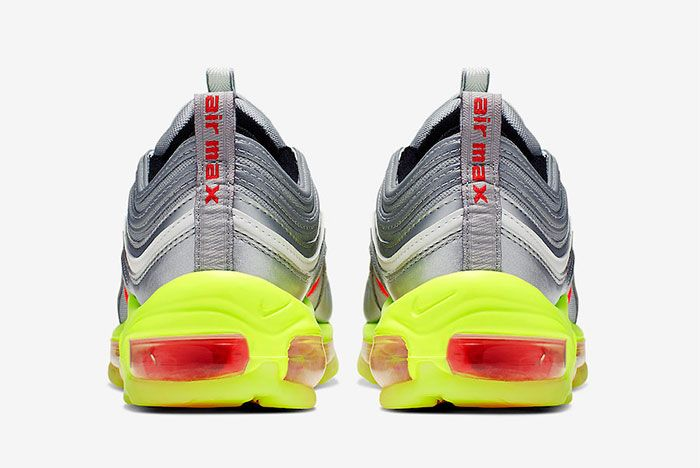 Nike Air Max 97 Silver Red Volt Bq8437 002 Heel Shot