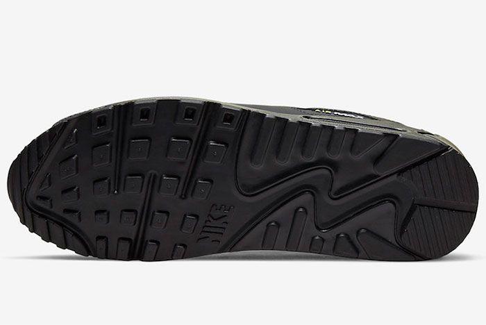 Nike Air Max 90 Black Volt Sole
