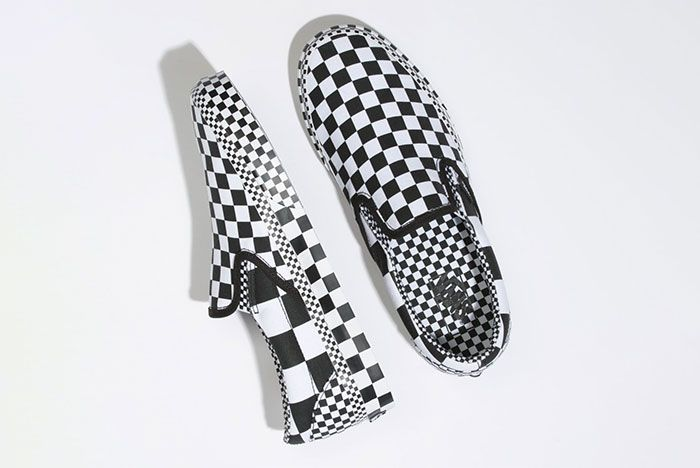 Vans Slip On All Over Checkerboard Top View