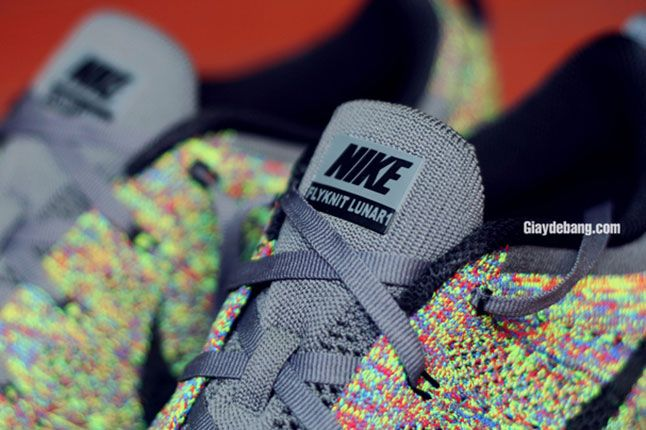 Nike Lunar Flyknit One Multi Color Tongue Detail 1