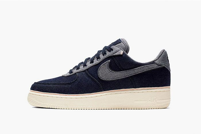 Nike 3 X 1 Air Force 1 Navy Side