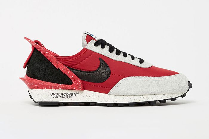 Undercover Nike Daybreak University Red Black Spruce Aura Cj3295 600 Release Date Lateral