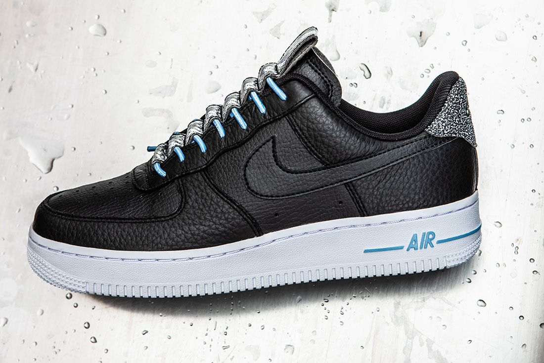 Nike Air Force 1 Womens Refective Black White11 Side