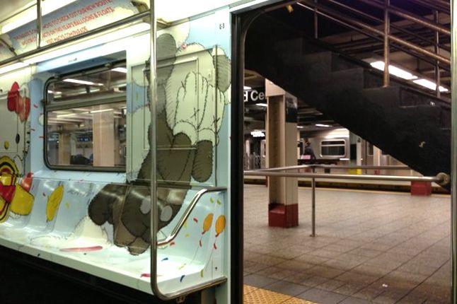 Kaws Nyc Mta Subway S Train Stickers 1