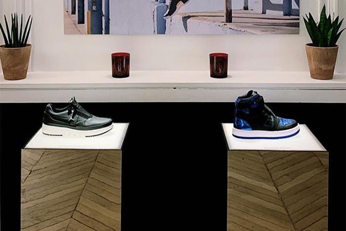Air Jordan 1 Womens Blue Black Side Shot