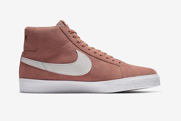 Nike Sb Blazer Dusty Peach Medial