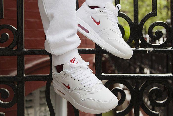 Nike Air Max 1 Jewel White Red 6