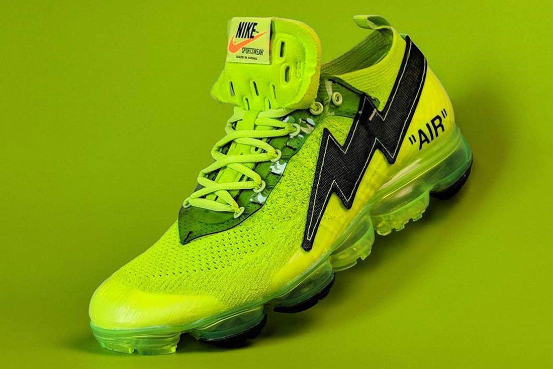Nike Off White Vapor Max Green