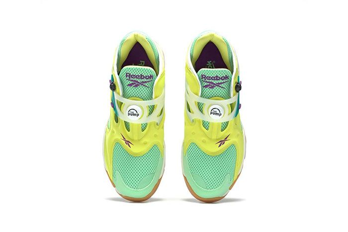 Reebok Pump Court Hero Yellow Seafoam Green Chalk Fv7901 Top