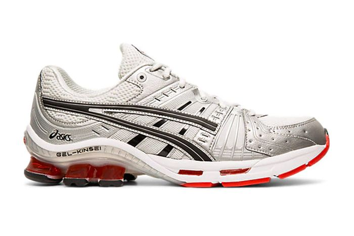 Asics Gel Kinsei Silver Red Right Side