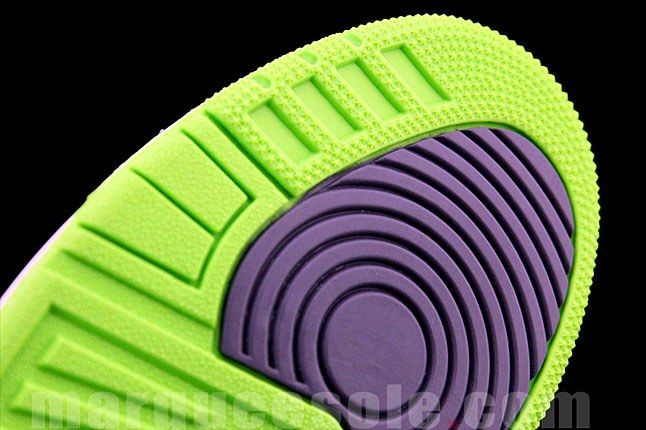 Air Jordan 3 Green Purple 1