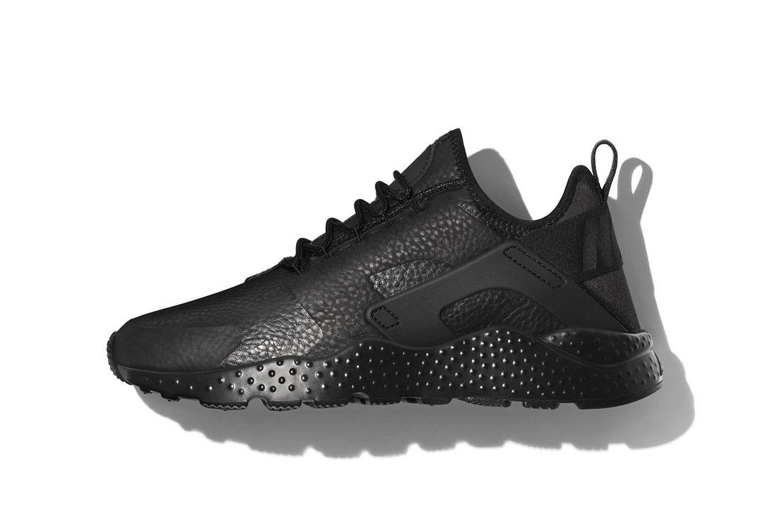 Nike Beautiful Powerful Black Leather Air Huarache