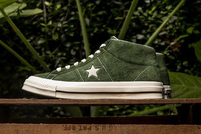 Converse One Star Mid Shadow Green 4