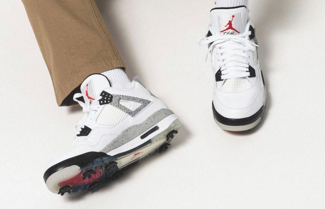 Air Jordan 4 G 'White Cement'