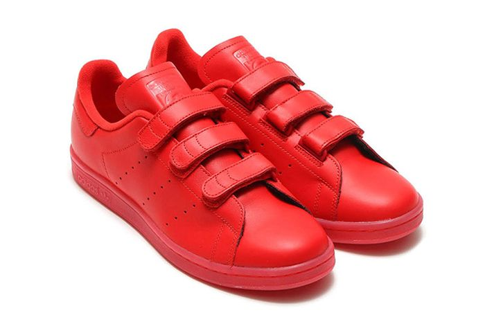 Aadidas Stan Smith Velcro Triple Red
