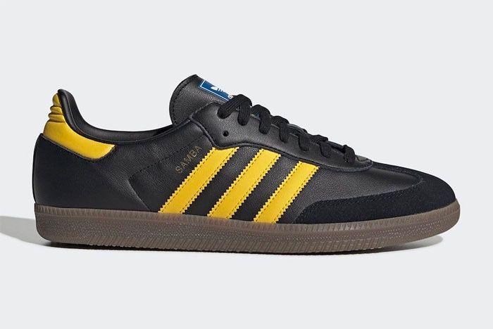Adidas Samba Yellow Black Right