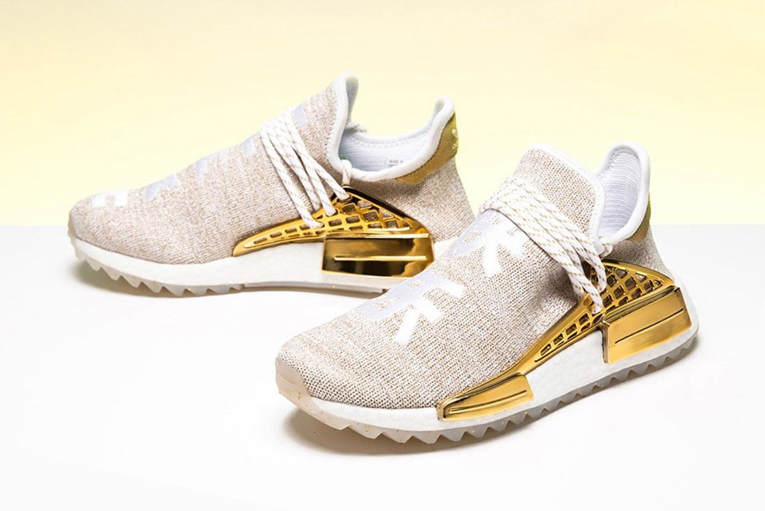 Pharrell Williams X Adidas Nmd Hu Happy Gold China Exclusive 1