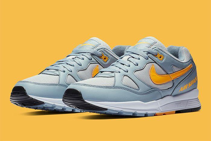 Nike Air Span Ii Grey Yellow Side1