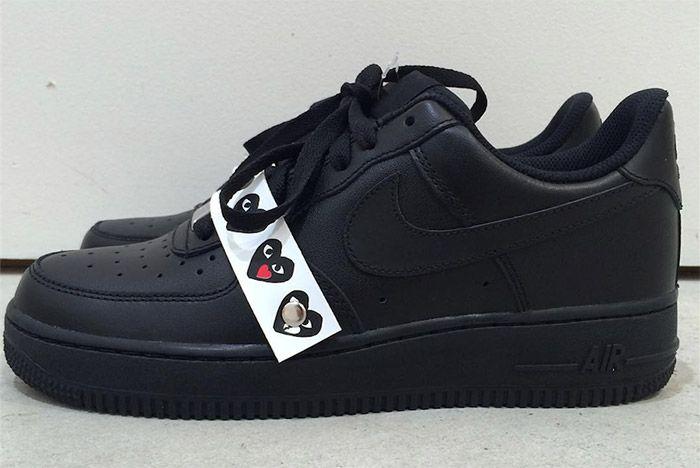 Comme Des Garcons Nike Air Force 1 Black 1